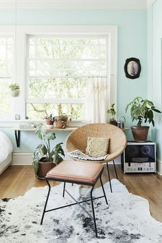Work Around the Weird: Design Ideas for Tricky-to-Decorate Spaces | Apartment Therapy #interior #apartment #design #teal
