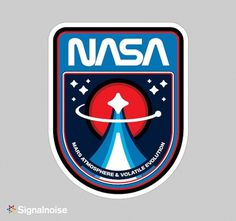 NASA mission patches on the Behance Network