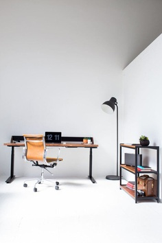 Harkavy Furniture Creates Modern Walnut & Steel Office Furniture - Design Milk