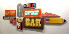 City of dreams Expo #lettering #zender #sign #shoe #illustration #bar #open #pencil #typography