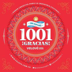 1000 likes to @velovestudio facebook page :) #colombia #banner #typography