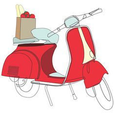 vespa #vector #graphic #italian #vespa #illustration #europe #italy