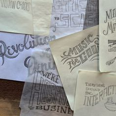 A few hand type sketches