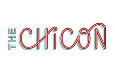 The Chicon Logo - Elle Tse #script #red #custom #teal #typography
