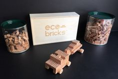 Eco-bricks wooden bricks