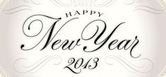 Happy New Year 2013 on Behance #script #emblem #brier #david #typography