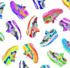 Nike Air Max, 2013. Benjamin Grossblatt. #nike #illustration #trainers