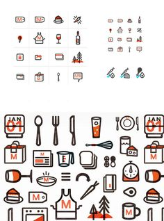 Munchery icons, Kelli Anderson #branding #icons #anderson #illustration #kelli