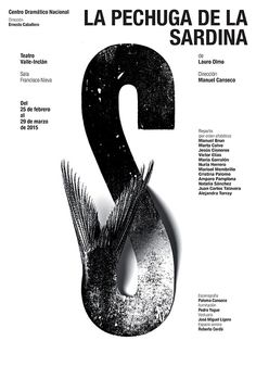 """""""National Drama Center"""". Posters from Isidro Ferrer,  Spain"""