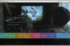 Magic 7 - Magical & Responsive PSD Template #design #creative #modern #clear #flat #psd #responsive #templates #progressive