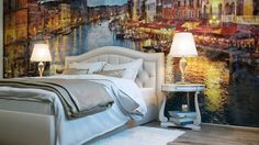 Would you like a painted wall in your bedroom - www.homeworlddesign. com (1) #bedroom #decor #design #wall #painting