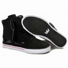 supra skytop 2 skateboard sneakers black high tops mens #shoes