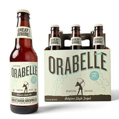 Great Divide Orabelle Packaging #packaging #beer #label #bottle