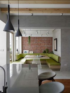 Taipei Open Flat – Wood, Redbrick, and Concrete for a German Lifestyle
