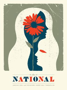 The National / The Antlers - Doublenaut #gig #poster