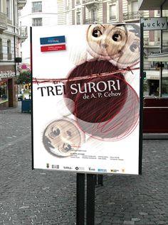 Russian Theatre Festival #festival #theatre #cehov #russian #poster #outdoor