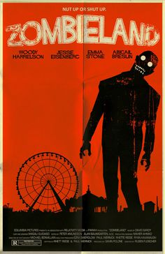 Zombieland poster by ~markwelser on deviantART #movie #horror #poster