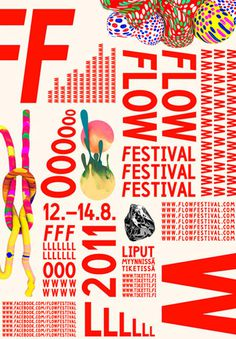 Flow Festival #graphic #design #layout
