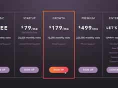 Pricing Table #pricing #ui