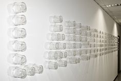 installation / through the wall #glasses #installation #typogra #through #thomas #the #grid #wall #kohl #light #typography