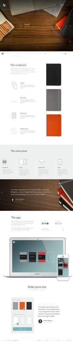 Mod-store-landing #web design #web site #landing page #product site