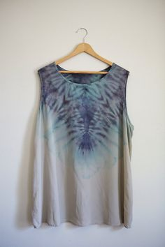 Hand Dyed Shibori Silk Top 2XL #dye