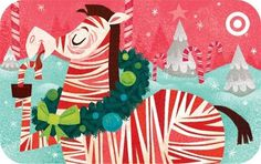 Johnny Yanok - Target Peppermint Zebra Gift Card #yanok #design #illustration #target #johnny