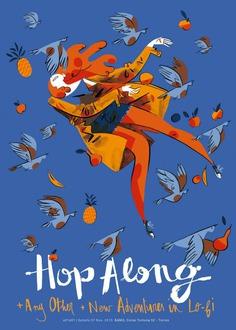 Hop Along 2016 Italian Tour Poster + Flyer