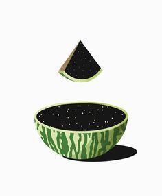 space watermelon
