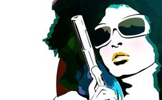 Retro Never Dies! - Wallpaper (1280x800) © Engin Korkmaz 2007(THIS DESIGN WAS STOLEN BY #creative #girl #gun #design #retro #sunglasses #digital #illustraton #beauty