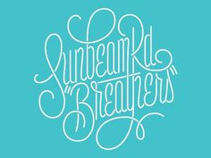 Dribbble - Sunbeam Rd - #lettering