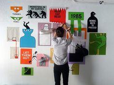 Jean Jullien's online portfolio: Reflet installation #jean #illustration #jullien