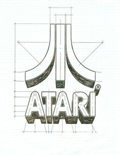 The 'Fuji' logo — art of the arcade, Art of the Arcade, a site dedicated to showcasing the lost graphic design and illustration work f #sketches