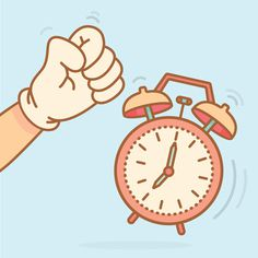 Monday mornings #clock #vector #illstration #hands