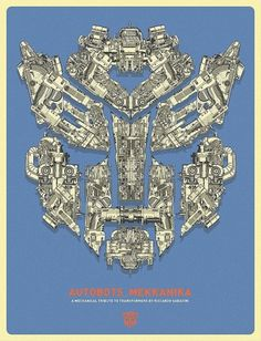 MEKKANIKA on the Behance Network #transformer #poster