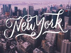 New York #city #typography #lettering #script #handlettering #city #newyorkcity #newyork #new #york