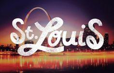 St.Louis #lettering #script #type #hand #typography