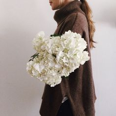fashion, sweater, flowers