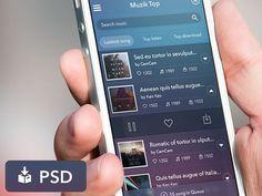Music App User Interface PSD