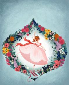 12 dancing princesses cover | Flickr - Photo Sharing! #illustration #dancing #flowers #princess