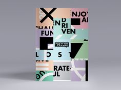 '14 My Year In Words // Posters on Behance #swiss #review #clean #digital #brand #studio #2014 #posters #poster #type #art #collage
