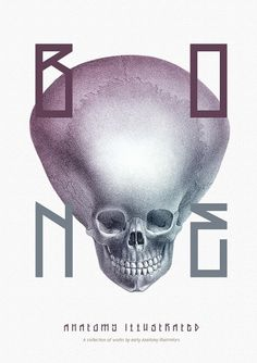 Bone - Anatomy Illustrated on the Behance Network #skeleton #bone #anatomy #book #kelava #cover #josip #poster #skull