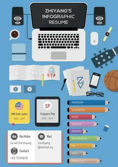 Infographic Resume on Behance #cv #illustration #infographic #resume