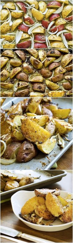 Garlic Parmesan Roasted Potatoes #parmesan #roasted #potatoes #garlic