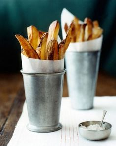All Things Stylish #stylish #food #tin #chips #bucket #fries #potato #metal