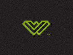 Whurley #logo #branding #identity #green #black #mark