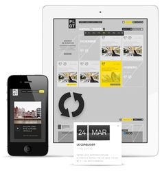 PLOT Architecture culture magazine portal on Behance #digital #app #web