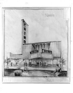 Chino Theatre drawing #architecture #drawing