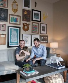 Brett & Chad's Merging of Styles House Call | Apartment Therapy #interior #wall
