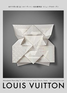 Louis Vuitton — Invitation Origami | Happycentro #print